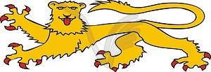 Heraldischer Löwe - Clipart-Design