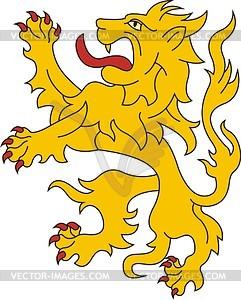 Schildhalter Löwe - Vektor-Abbildung