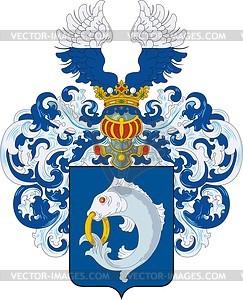 Regel, Familien-Wappen - Vektorgrafik
