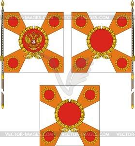 Vorlage der Fahne der Russischen militärischen Einheit - Vektorgrafik