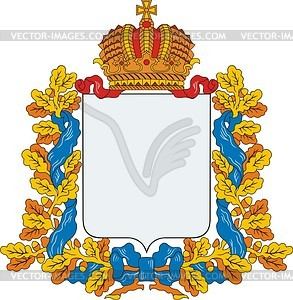 Russischer Provinz-Wappenschild - Vector-Clipart / Vektor-Bild