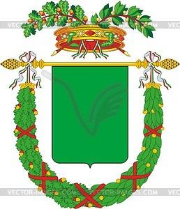 Italienischer Provinz-Wappenschild - Vektor-Design