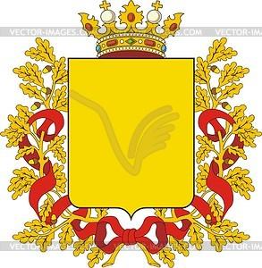 Russischer Provinz-Wappenschild - Stock Vektorgrafik
