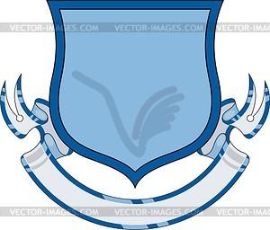 Wappenschild mit Band für Wahlspruch - Stock Vektor-Bild