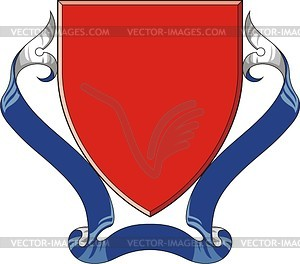 Wappenschild mit Band für Wahlspruch - Clipart-Design