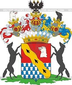 Stroganow Barone, Familienwappen (T.1, S.33 OG) - Vektorgrafik