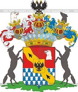 Stroganow Grafen, Familienwappen - Vektorgrafik