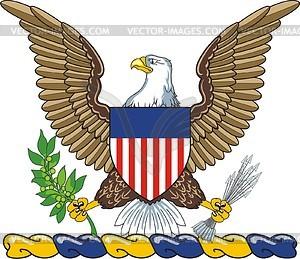 Helmzier mit US-Adler - Vektor Clip Art