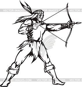 Indianer - Vector-Illustration