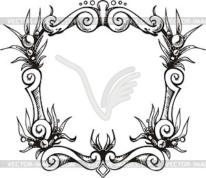 Dekorativer Kranz (Rahmen) - Vektor-Clipart / Vektor-Bild