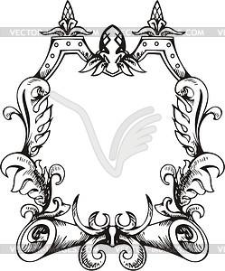 Dekorativer Kranz (Rahmen) - Vektor-Clipart / Vektorgrafik