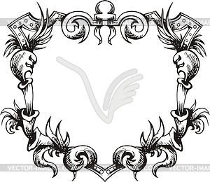 Dekorativer Kranz (Rahmen) - Vektor-Clipart
