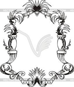Dekorativer Kranz (Rahmen) - Vektor-Design