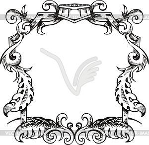 Dekorativer Kranz (Rahmen) - Vector-Clipart