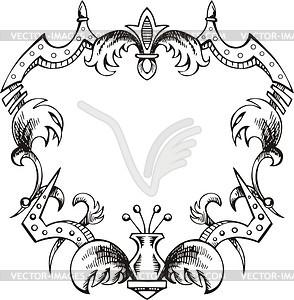 Dekorativer Kranz (Rahmen) - Vektorgrafik