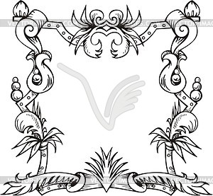 Dekorativer Kranz (Rahmen) - Vektor-Clipart EPS