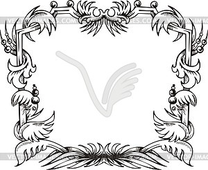 Dekorativer Kranz (Rahmen) - Vector-Clipart EPS