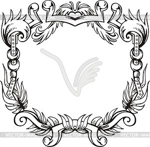 Dekorativer Kranz (Rahmen) - Vector-Clipart / Vektor-Bild