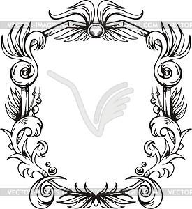 Dekorativer Kranz (Rahmen) - Vector-Clipart / Vektorgrafik
