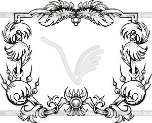 Dekorativer Kranz (Rahmen) - Vektor-Klipart