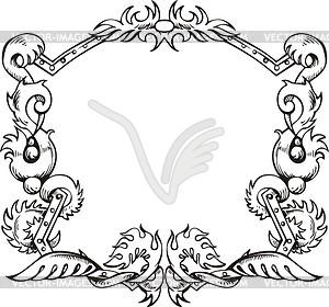 Dekorativer Kranz (Rahmen) - Vektor Clip Art