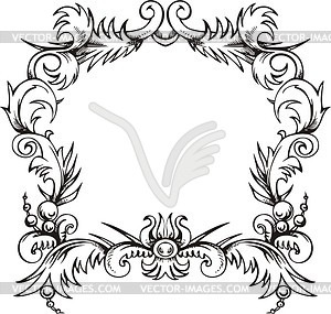 Dekorativer Kranz (Rahmen) - Vector Clip Art