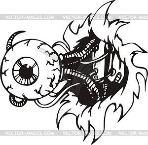 Auge des Cyborgs - Vektorgrafik