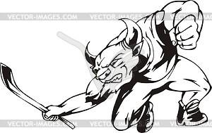 Stier Maskottchen - Vector-Bild