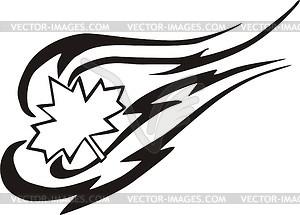 Ahornblatt Flamme - vektorisierte Abbildung