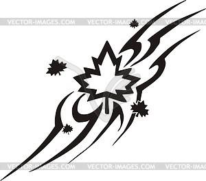 Ahornblatt Flamme - vektorisiertes Clip-Art