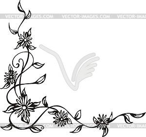 Ornamentale Blumen-Ecke - Vector-Clipart / Vektorgrafik