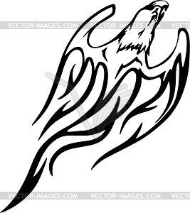 Adler Flamme - Vector Clip Art