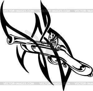 Pistole Tattoo - Vektor-Clipart / Vektor-Bild