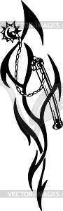 Streitkolben Tattoo - Vector-Bild