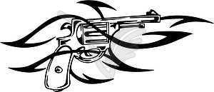 Revolver Tattoo - vektorisiertes Bild
