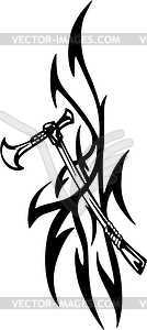 Tomahawk Tattoo - Vector-Bild