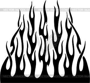 Vertikale Flamme - Vektor-Clipart EPS