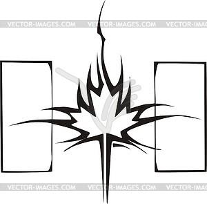 Ahornblatt Flamme - Vector-Clipart EPS