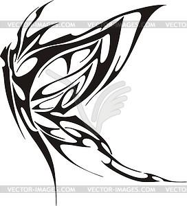Schmetterling Tattoo - schwarzweiße Vektorgrafik