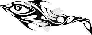 Delphin-Tattoo - Vektorgrafik