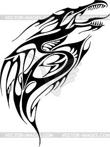 Drache Tattoo - Vector-Illustration