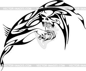 Schädel Tattoo - Vector-Bild
