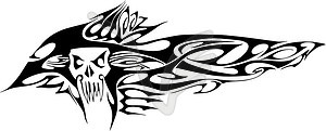Piratenschädel Tattoo  - Vektorgrafik