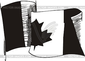 Kanadische Flagge - Stock-Clipart
