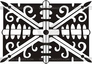 Union Jack ornamentales Muster - vektorisiertes Clipart
