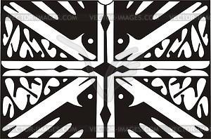 Union Jack ornamentales Muster - vektorisiertes Clip-Art