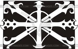 Union Jack ornamentales Muster - vektorisiertes Bild