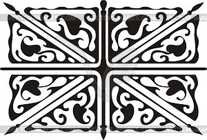 Union Jack ornamentales Muster - vektorisierte Grafik
