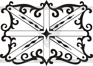 Union Jack ornamentales Muster - Clipart