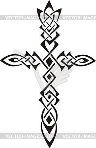 Keltisches Kreuz - Vector Clip Art
